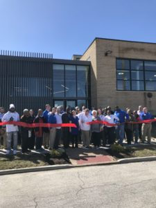 WIN Warehouse ribbon cutting
